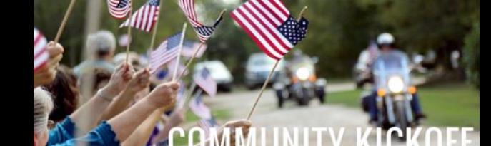 Community Kick Off for Marine Cpl Darryl Charles