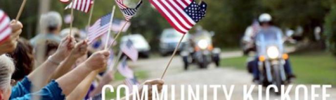 Community Kick Off for Marine SSgt Liam Dwyer