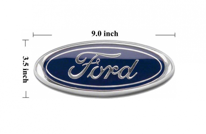 Ford Oval Emblem, Dark Blue Decal Badge Nameplate