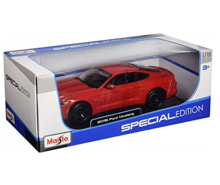 Ford Mustang 1:18 Red Diecast Special Edition by Maisto