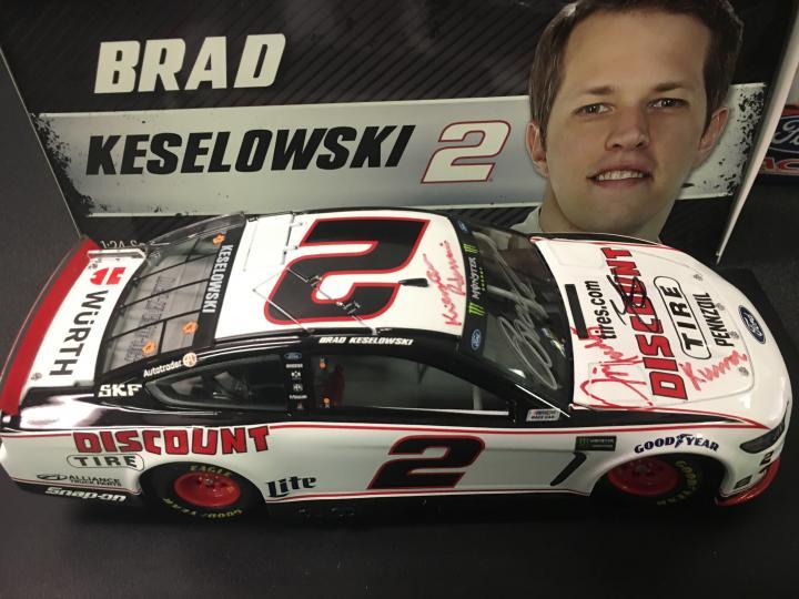 Brad Keselowski Autographed NASCAR Diecast Model