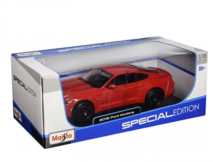 Ford Mustang 1:18 Blue Diecast Special Edition by Maisto