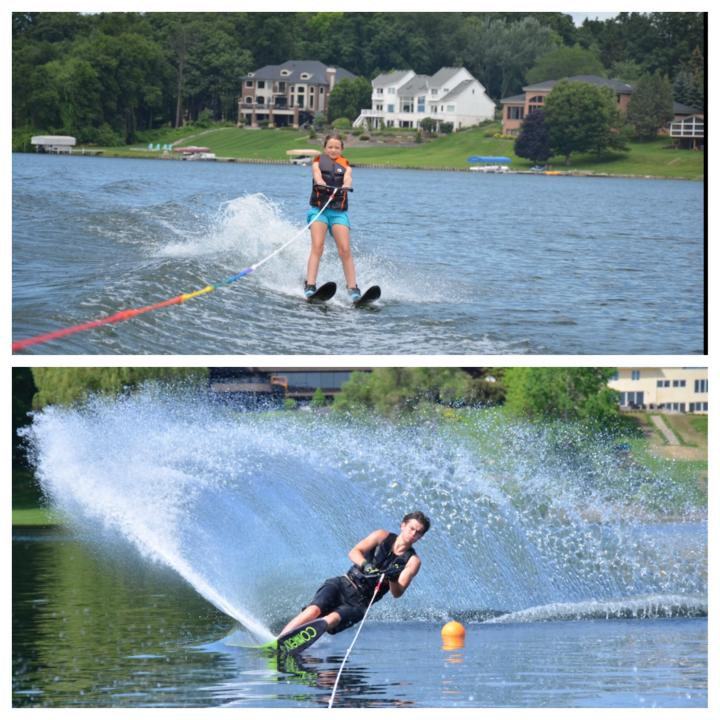 2 Hours waterskiing lesson for up to 4 people,  age 7 to adult.